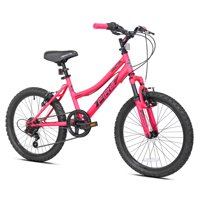 "BCA 20"" Crossfire 6-Speed Girl's Mountain Bike, Pink/Black"