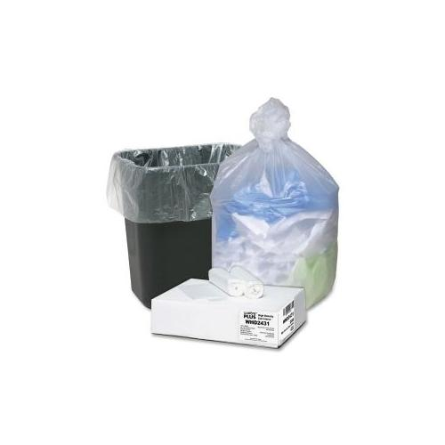 WEBSTER INDUSTRIES Can Liners, 16 Gallon, 24x33, 200/CT, Translucent