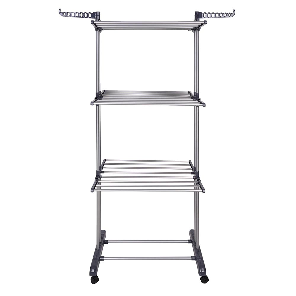 3 Tier Clothes Dryer Rack Foldable Laundry Drying Hanger Airer Compact  Storage Steel Indoor Outdoor - Walmart.com