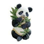 "20"" Baby Asian Panda Eating Bamboo Statue"