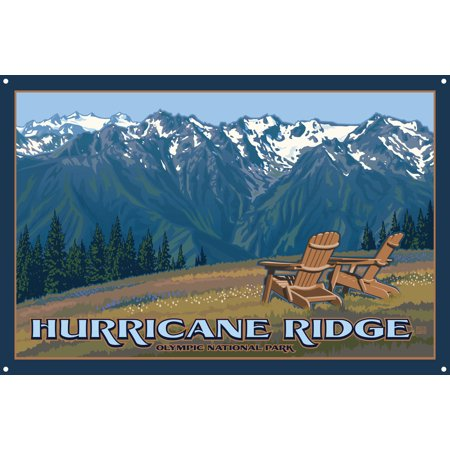 Hurricane Ridge Chairs Metal Art Print by Paul Leighton (12