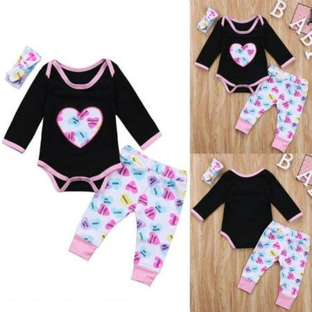 66cd8a147 Autumn Newborn Kids Baby Girls Tops Romper Flower Pants Leggings ...