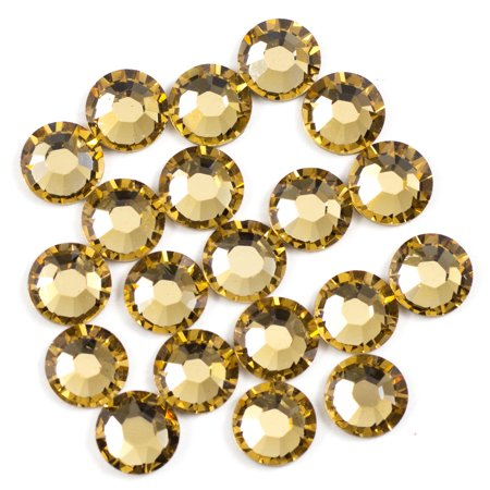 Swarovski 5mm Lt Colorado Topaz Hotfix 20PC 5mm Swarovski Flower Bead