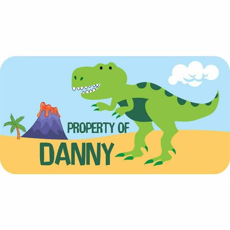 Personalized Labels Kids - Personalized Kids Property Labels, Dinosaur