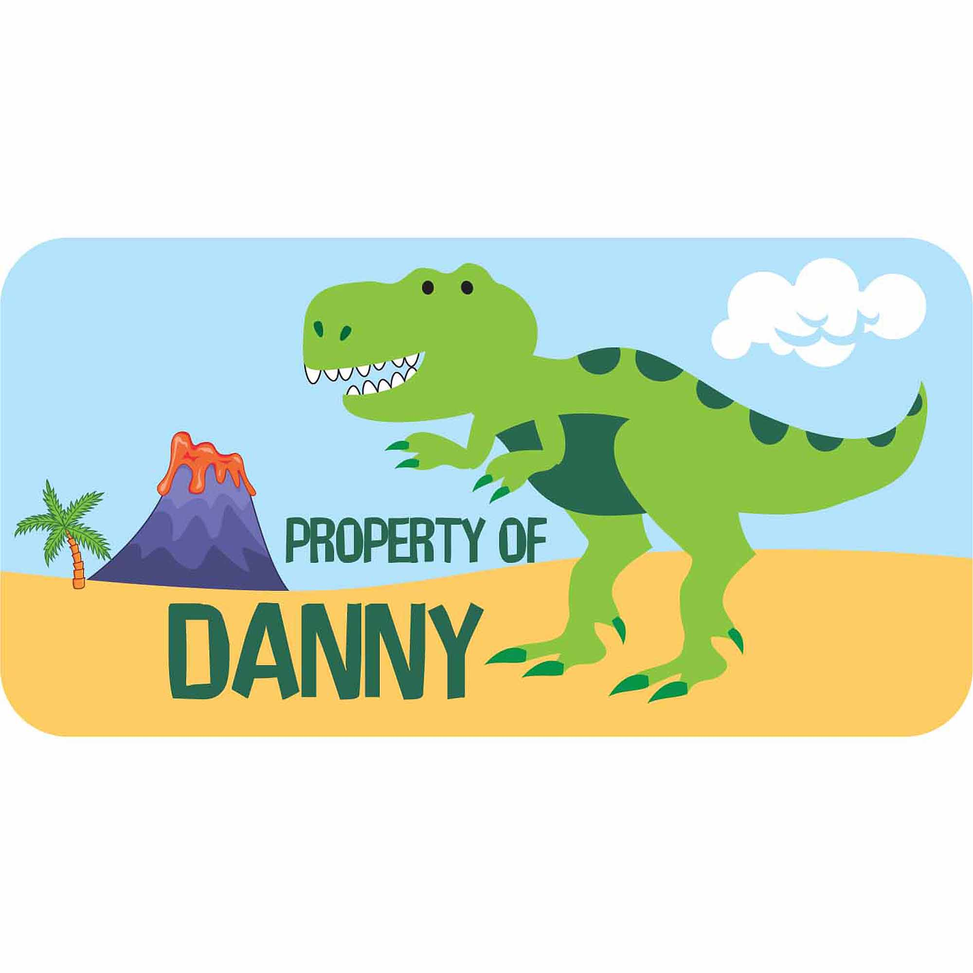 Personalized Kids Property Labels, Dinosaur