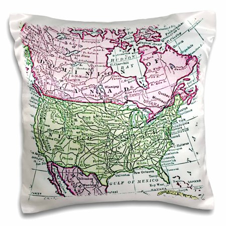 3drose Vintage Map Of North America Usa Canada Mexico Faded Look
