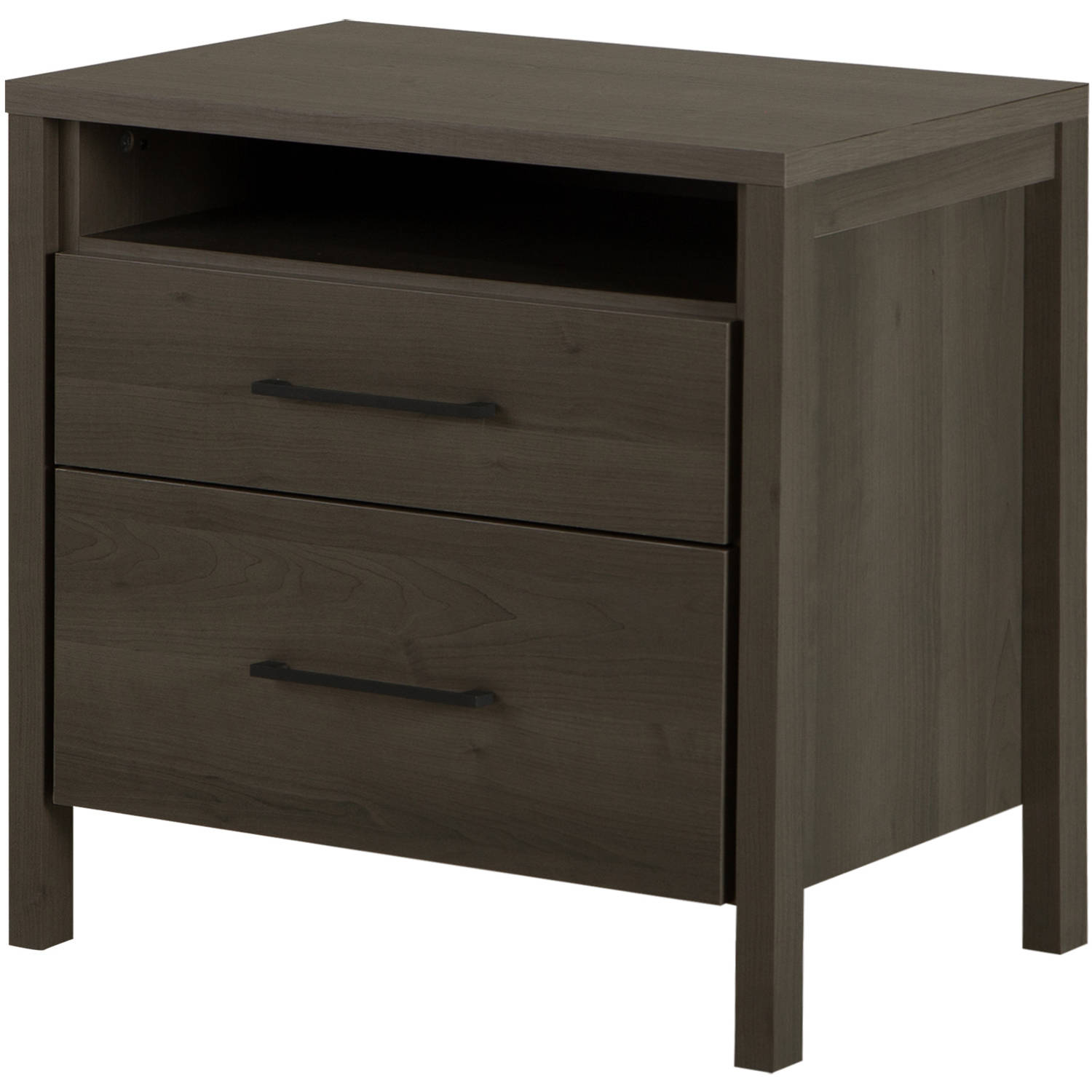 South Shore Gravity 2-Drawer Nightstand, Multiple Finishes
