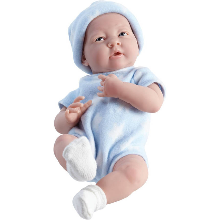 "JC Toys La Newborn 15"" Real Boy Doll, Blue and White Star"