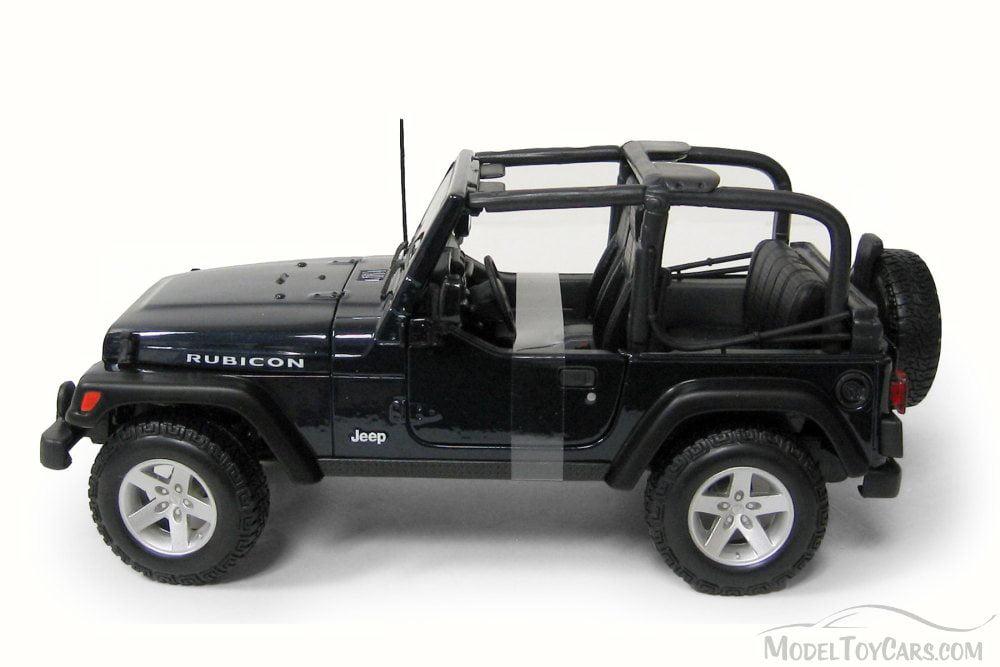 Jeep Wrangler Rubicon Convertible, Blue - Maisto 31245 - 1/27 Scale
