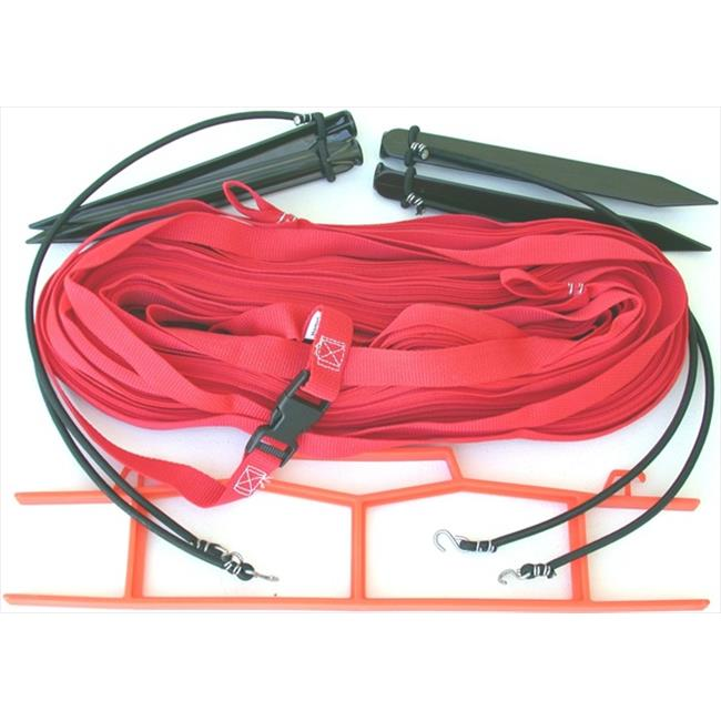 Home Court M8W25RS 8 Meter Red 1-inch Non-adjustable Web Courtlines