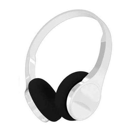 hype slim over ear bluetooth headphones white. Black Bedroom Furniture Sets. Home Design Ideas