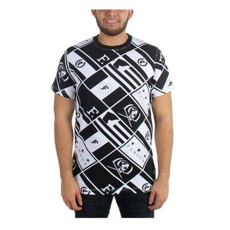 Famous Stars And Straps The Pledge Mens Short Sleeve Tee Black White 2XL](Famous Stars And Straps Clearance)