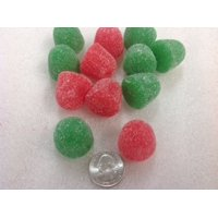 Christmas Jumbo Gum Drops Holiday Candy red green jelly gumdrops 5 pounds