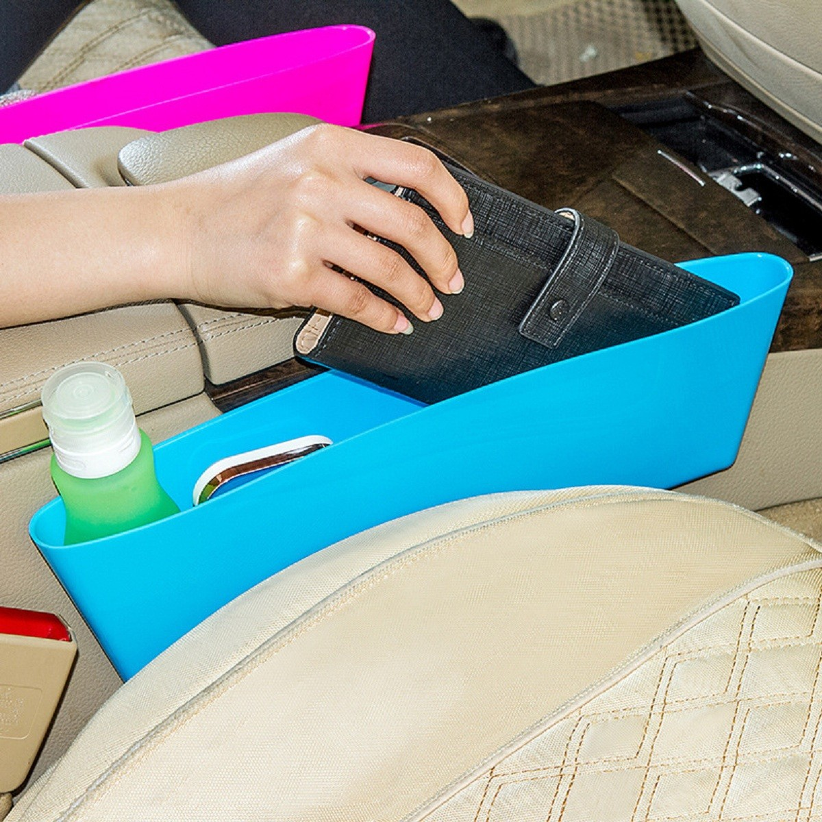 universal car storage pouch bag store phone charge box holder pocket organizer
