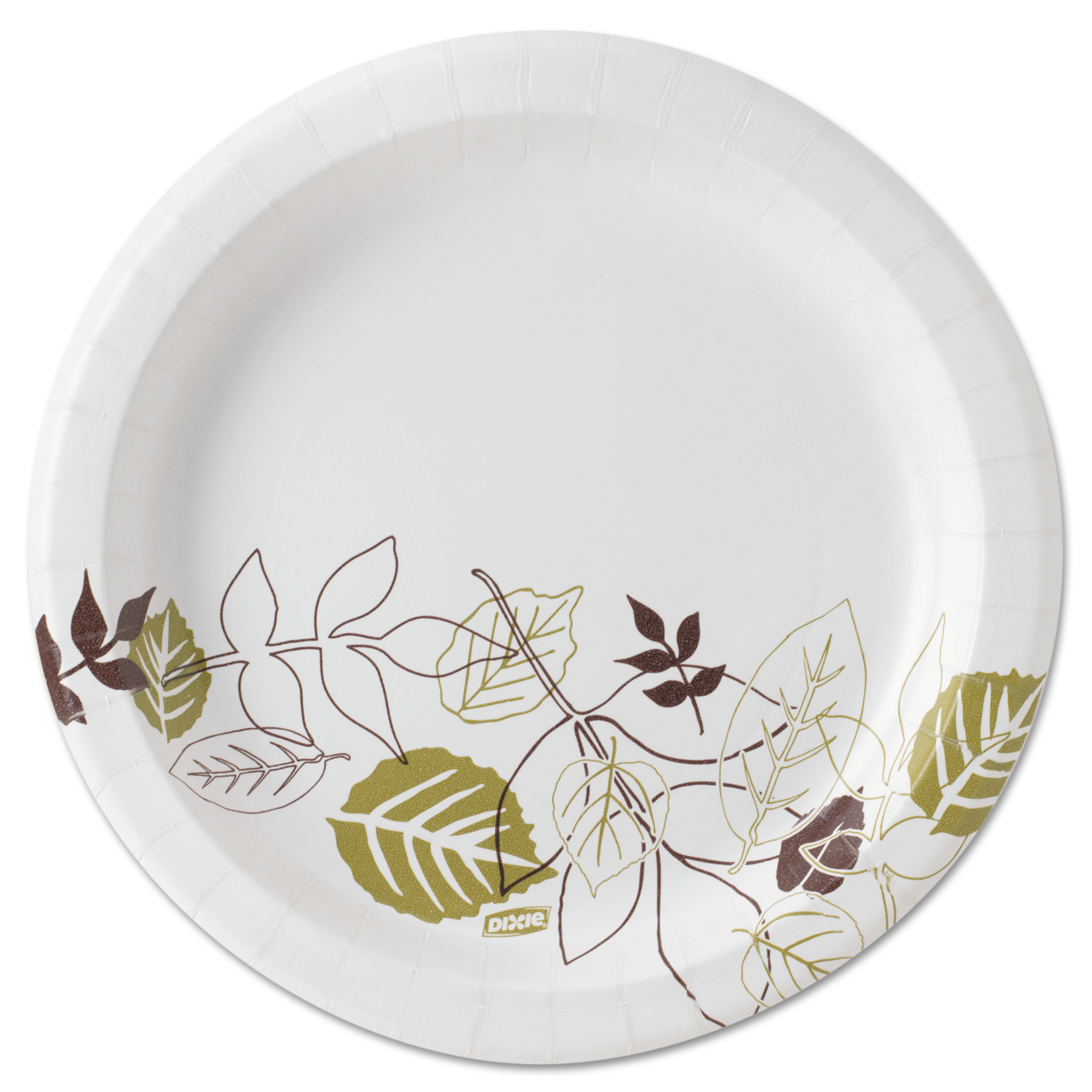 "Dixie Pathways Soak-Proof Shield Mediumweight Paper Plates, 8 1/2"", Grn/Burg, 1000/Ct -DXEUX9PATH"