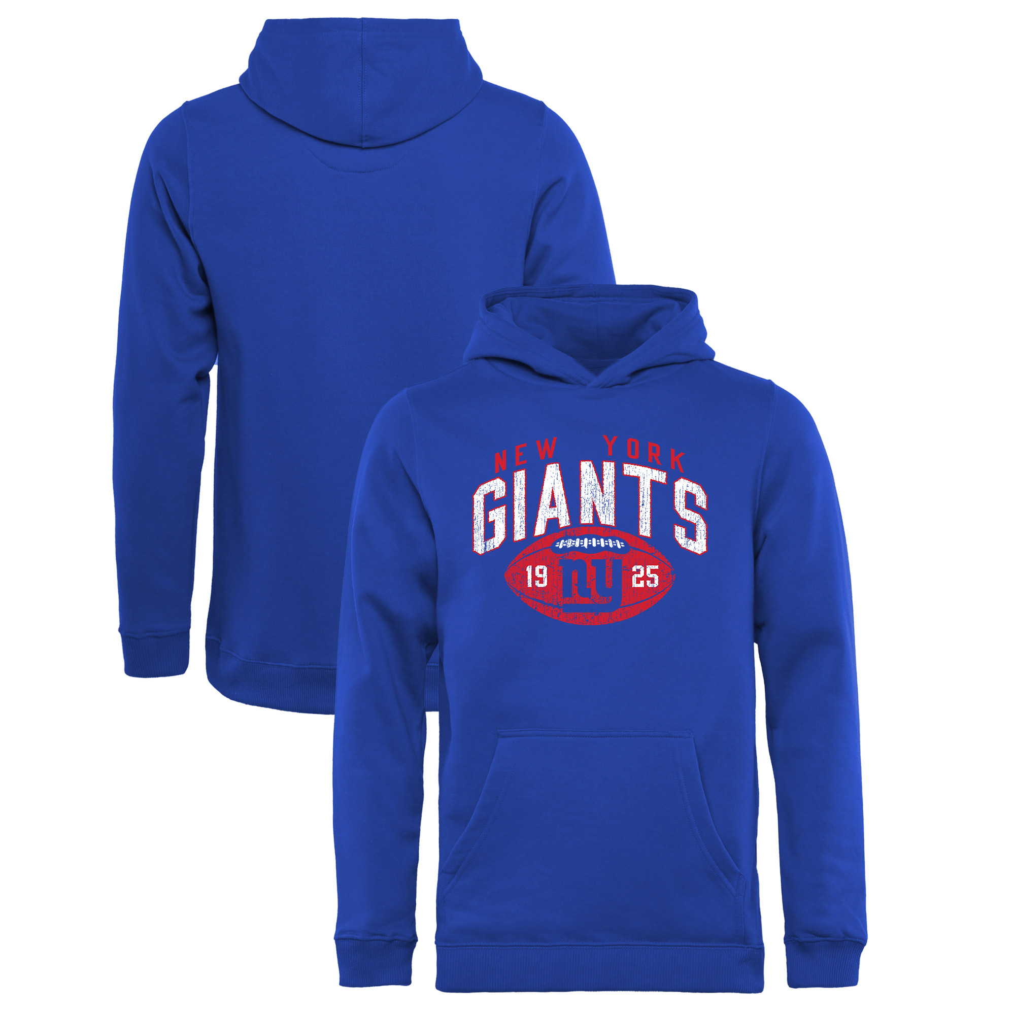 New York Giants NFL Pro Line by Fanatics Branded Youth Throwback Collection Coin Toss Pullover Hoodie - Royal