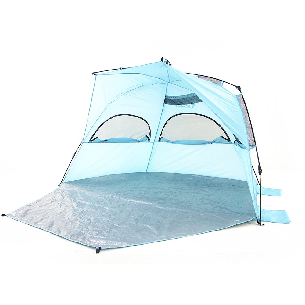 Porpora Outdoor X-Large Deluxe Beach Tent Quick Portable UV Sun Sport Shelter Cabana Instant  sc 1 st  Walmart & Porpora Outdoor X-Large Deluxe Beach Tent Quick Portable UV Sun ...