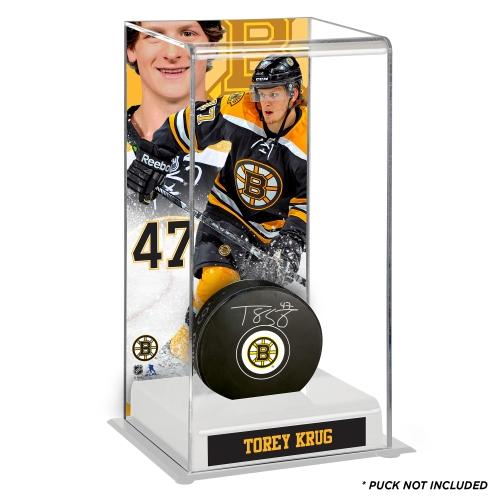 Torey Krug Boston Bruins Deluxe Tall Hockey Puck Case