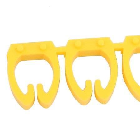 20 Pcs Letters - Network Cable Labels Markers Yellow for 6.0-10.0mm Dia Wire - image 2 of 4