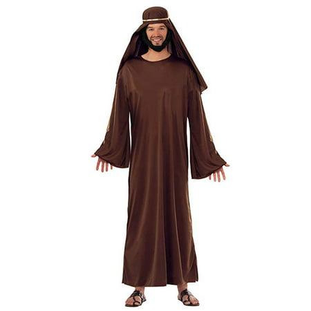 Adult Mens Christian Biblical Shepherd Nativity Wise Man Robe Costume XL BROWN