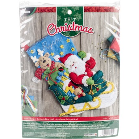 Bucilla Felt Applique (Bucilla Felt Stocking Applique Kit 18