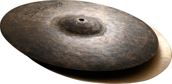 "STAGG 14/"" BLACK METAL ROCK HI-HAT CYMBALS PAIR for DRUM SETS BM-HR14"