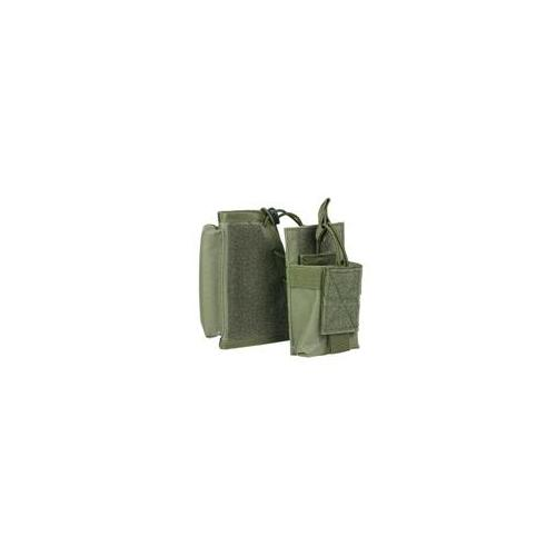 NcStar CVSRMP2925G Stock Riser With Mag Pouch-Green