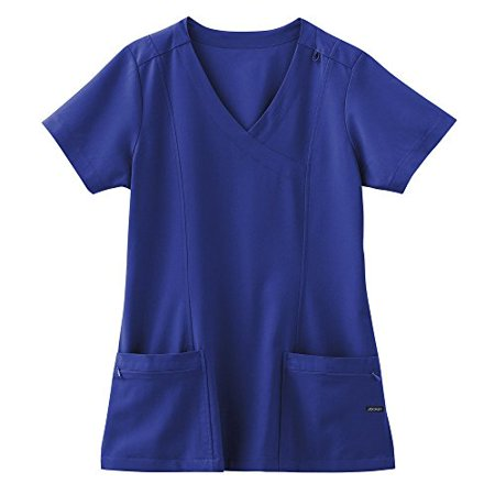 Classic Fit Collection by Jockey Women's Mock Wrap Scrub Top Large Galaxy Blue - Jockey Supplies