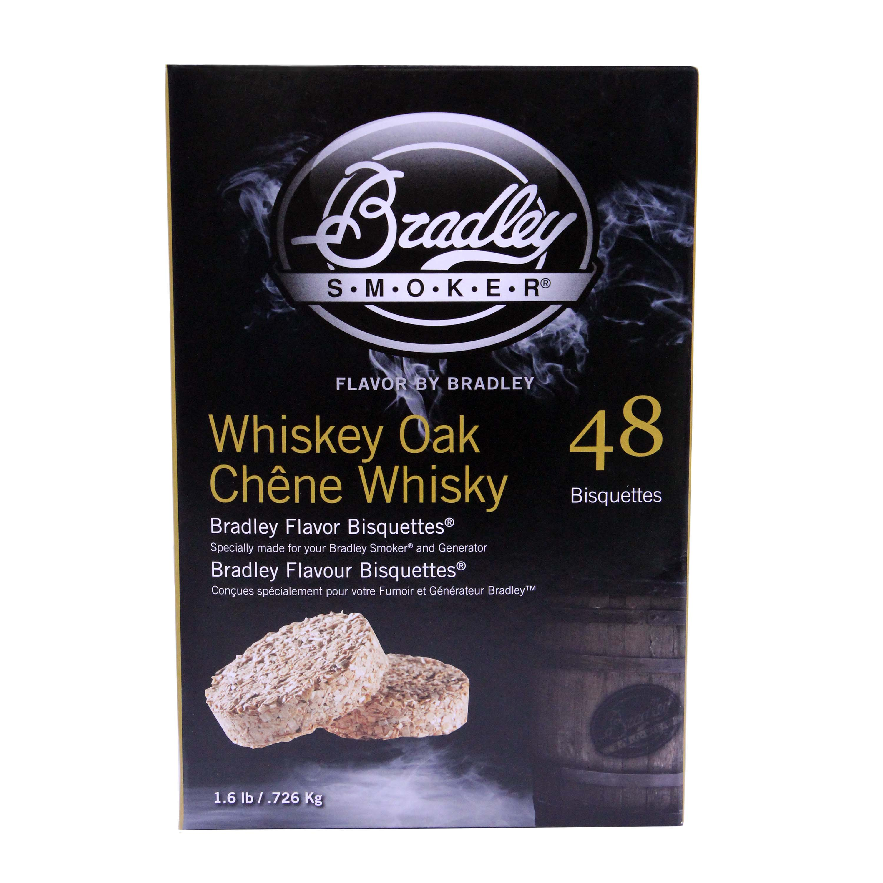 Bradley Smokers Smoker Bisquettes Whiskey Oak Special Edition, 48 Pack