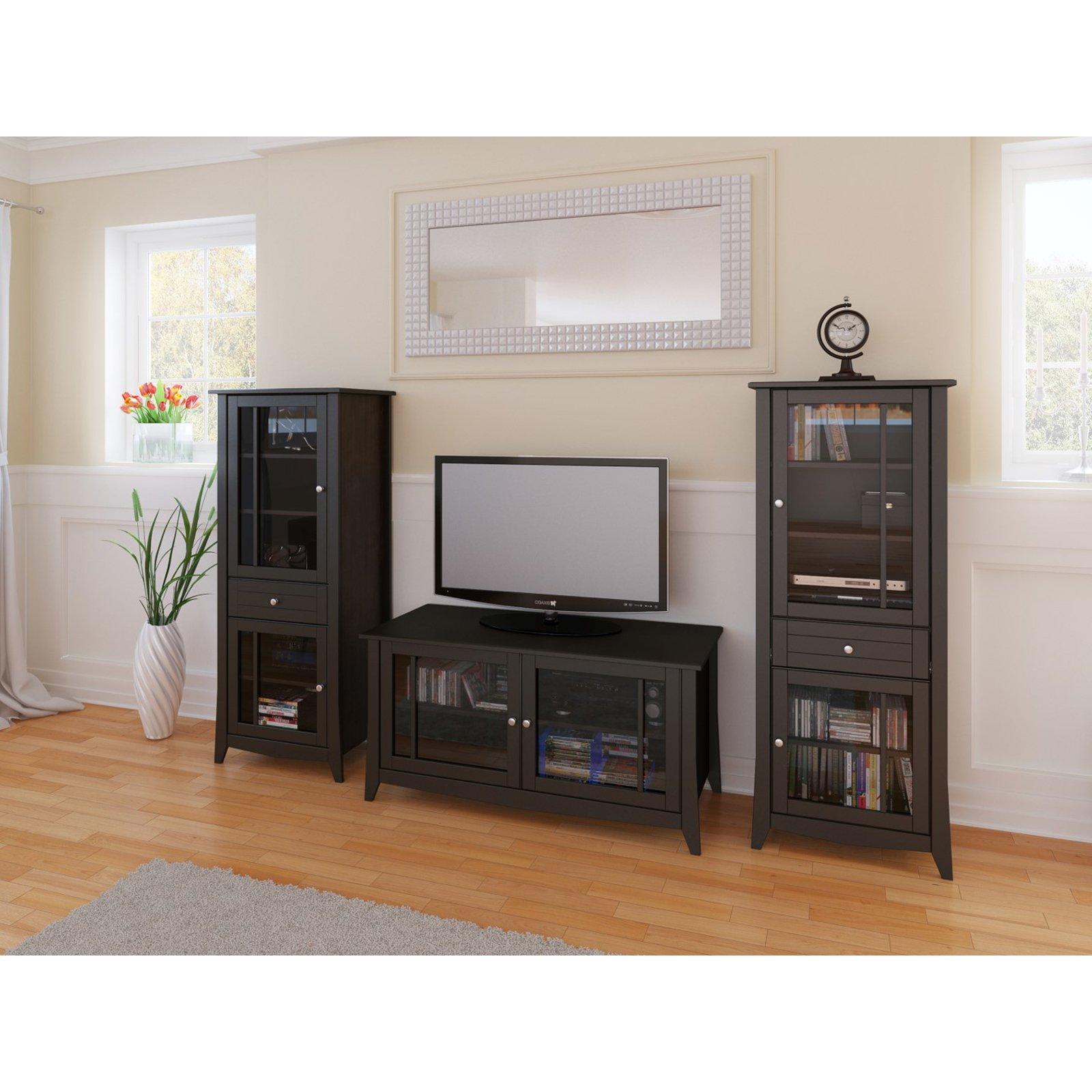 Genial TV Console With Curio Cabinet   Walmart.com