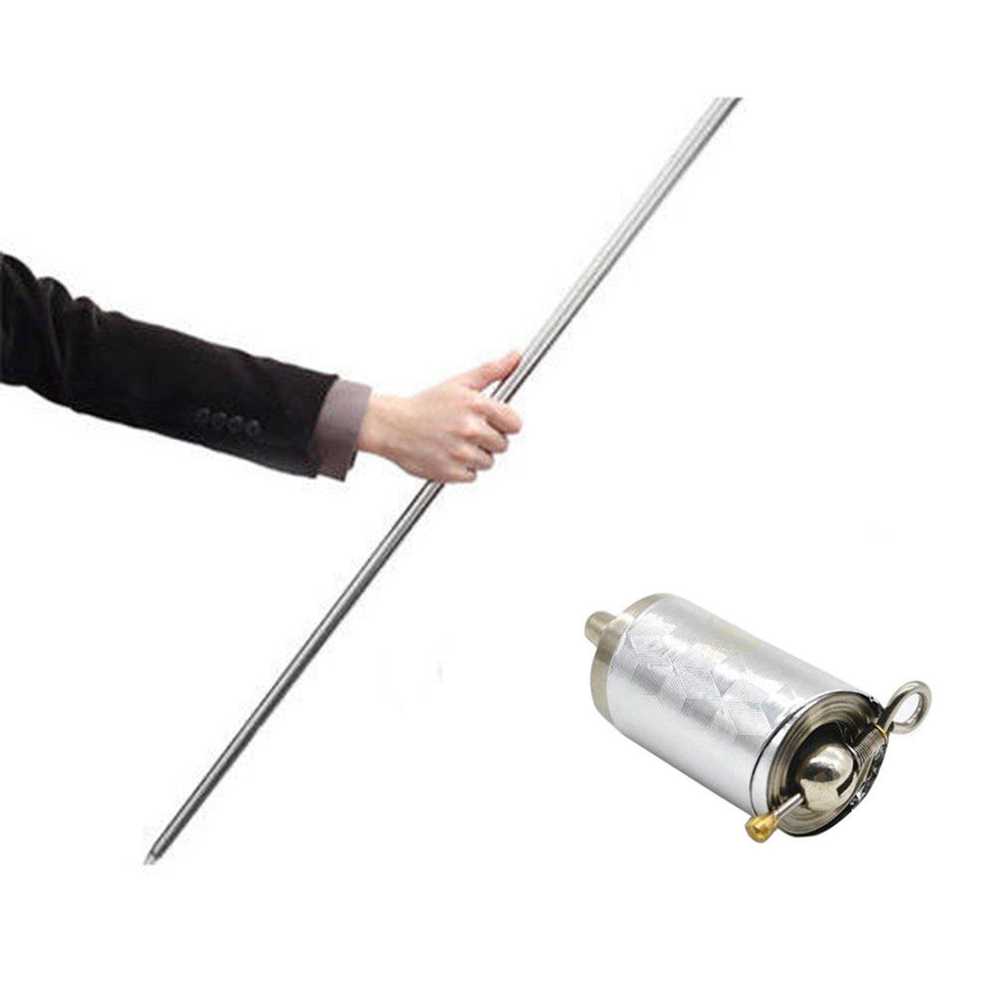 New Martial Arts Staff Self Defense Stick Portable Metal Magic Pocket Telescopic