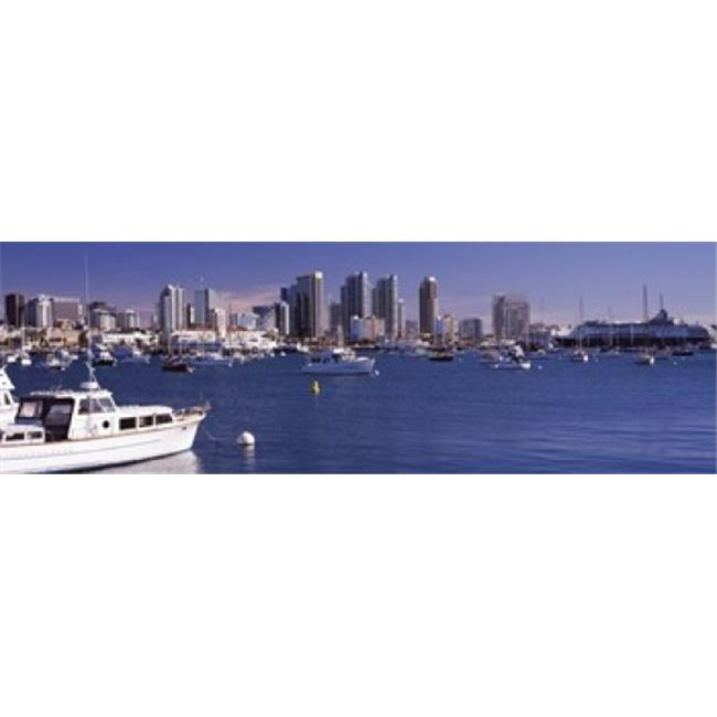 Panoramic Images PPI124161L Buildings at the waterfront  San Diego  California  USA 2010 Poster Print by Panoramic Images - 36 x 12 - image 1 de 1