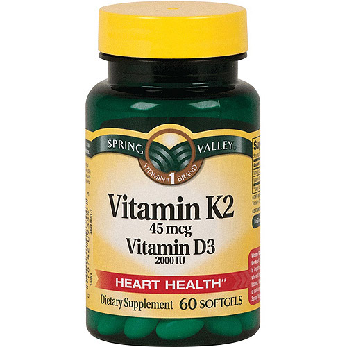 Spring Valley K2D3 Dietary Supplement Softgels, 60ct