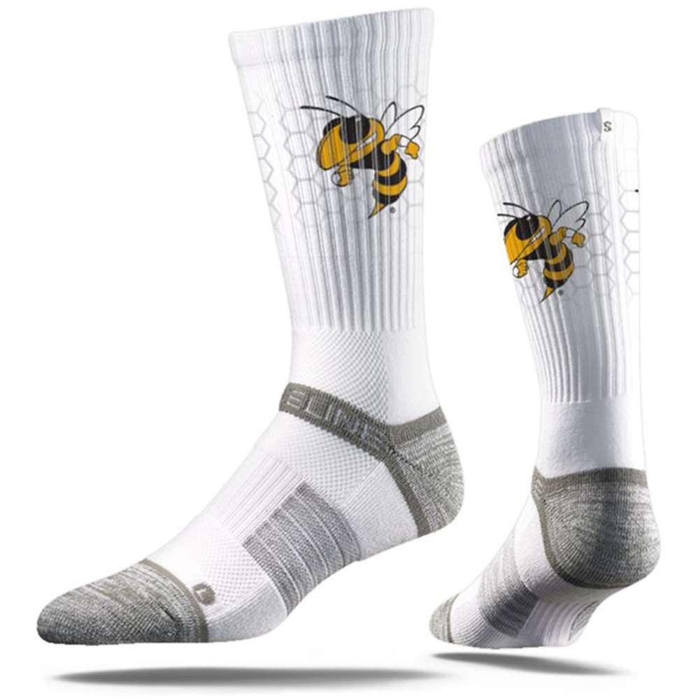 Georgia Tech Yellow Jackets Strideline Premium Crew Sock - White