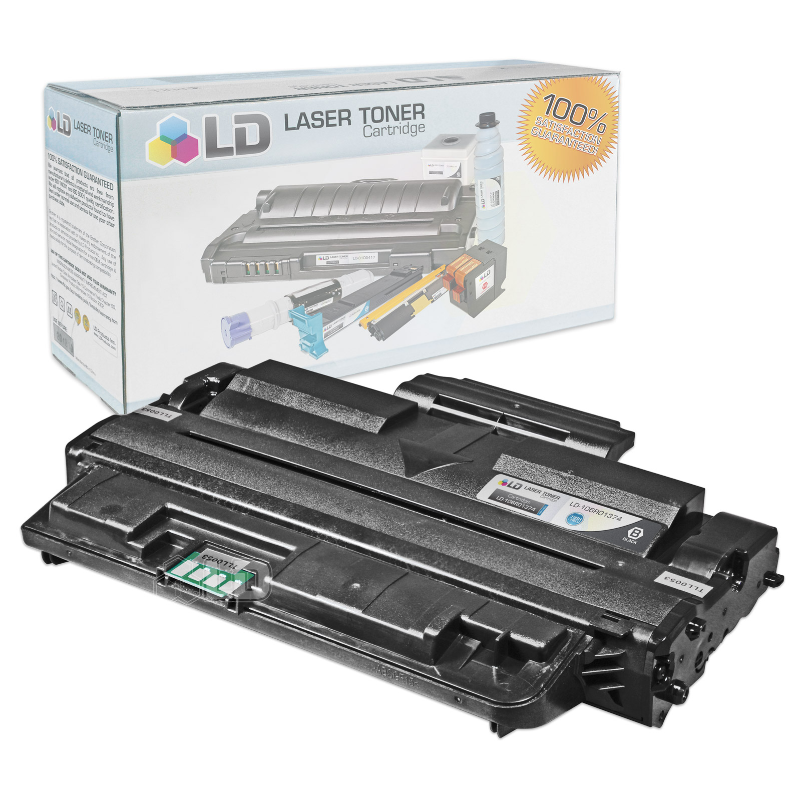 LD Compatible Replacement for Xerox 106R01374 High Yield Black Laser Toner Cartridge for use in Xerox Phaser 3250,