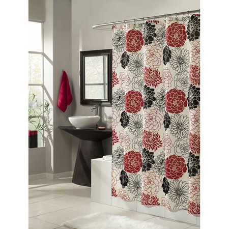 Mstyle Full Bloom Microfiber Shower Curtain