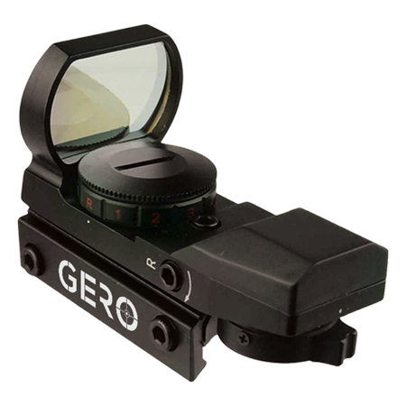 tactical green and red dot sight - 4 reticles reflex sight with built-in weaver-picatinny rail mount for 22mm rail base - water resistant shockproof & lightweight with adjustable