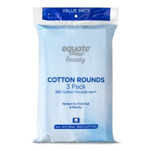 Equate Beauty Cotton Rounds, 300 Ct