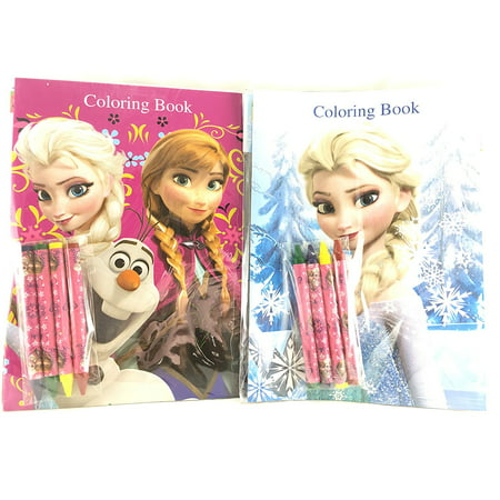 (Party Favors Disney Frozen Coloring Book & Crayon Set 12 Pack ( Assorted Style))