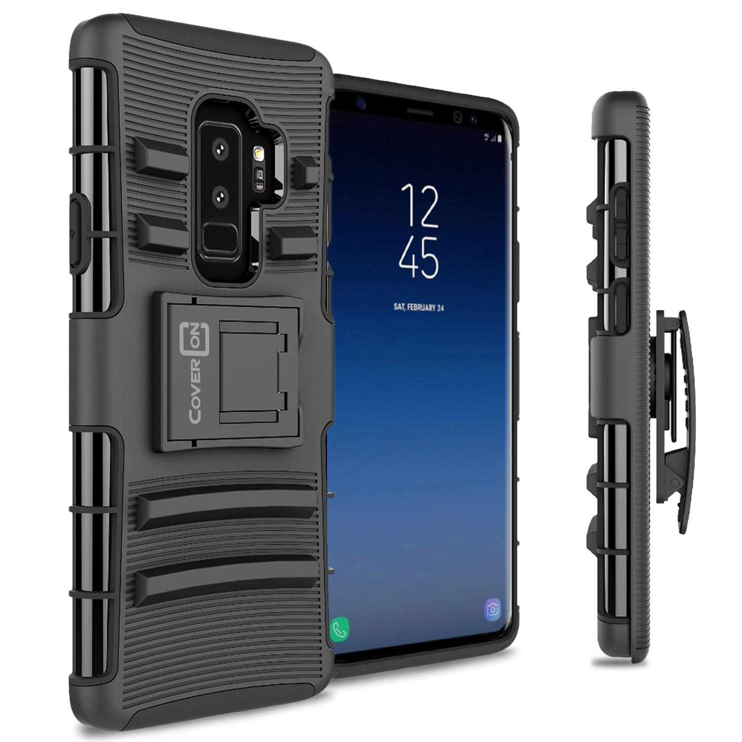 CoverON Samsung Galaxy S9 Plus Case, Explorer Series Protective Holster Belt Clip Phone Cover