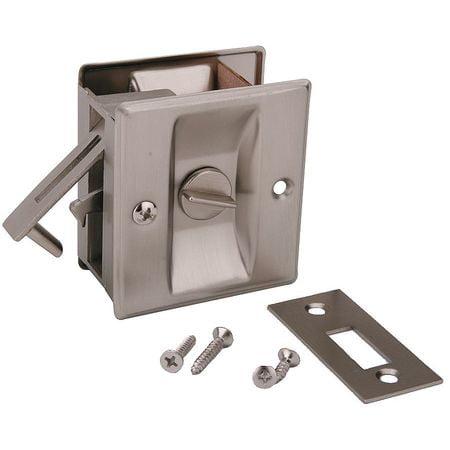 Pocket Door Privacy Lock-Satin Nickel JOHN STERLING CD-1039-US15