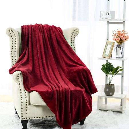 Superb Flannel Throw Blanket Solid Burgundy Warm Lightweight Sofa Couch Bed Throw Bralicious Painted Fabric Chair Ideas Braliciousco