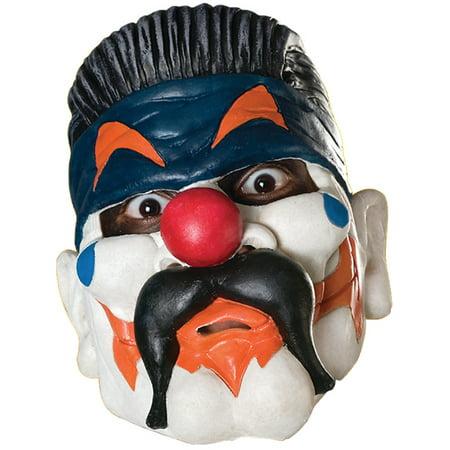 New Adult's Big Evil Clown Vinyl Costume Accessory Mask (Evil Clown Masks For Sale)