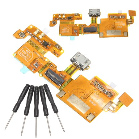 USB Charging Charger Port Connector Flex Cable Ribbon With Tools For ZTE Blade V6