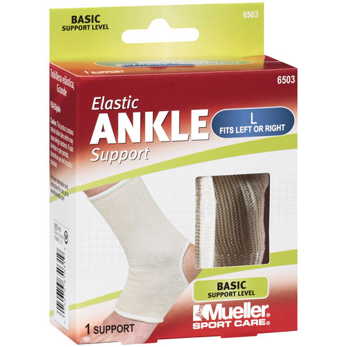 Mueller Sport Care Large Basic Elastic Ankle Support, 1ct