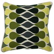 Kosas Home Corset 18-inch Feather Filled Throw Pillows 18 x 18  Blue Corset Decorative Pillow