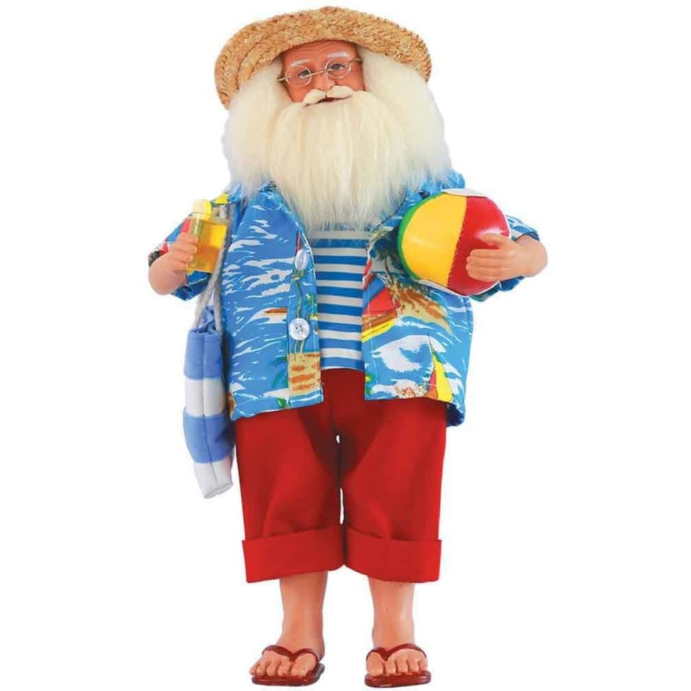 "Santa's Workshop 15"" Beach Time Santa Figurine"