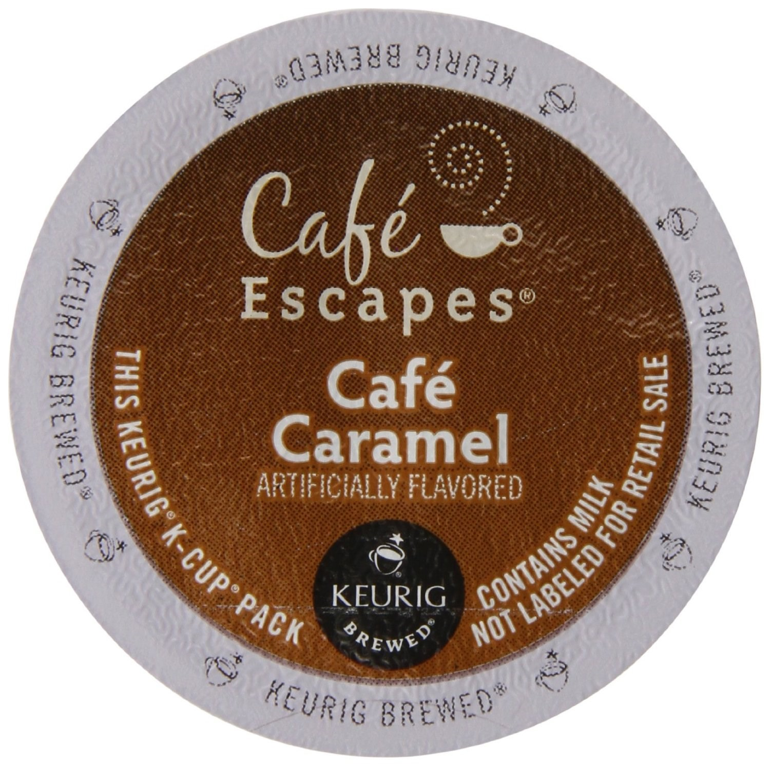 Cafe Escapes Caramel Coffee K-Cups, 12 CT (Pack of 6)