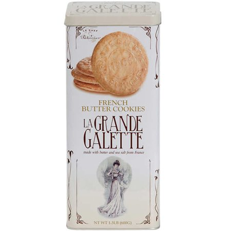 La Grande Galette French Butter Cookies by St. Michel 1.3 lb. (600 (Le Chef Patissier Grande Galette French Butter Cookies)