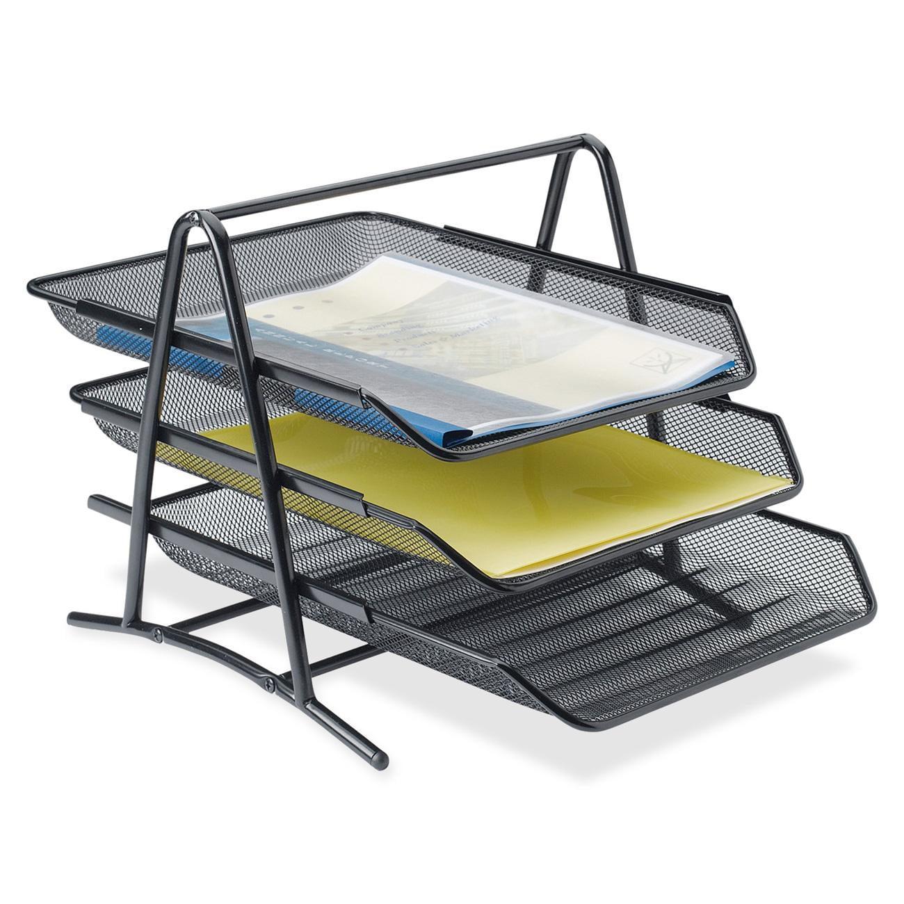 Bon Lorell Steel Mesh 3 Tier Mesh Desk Tray   Walmart.com